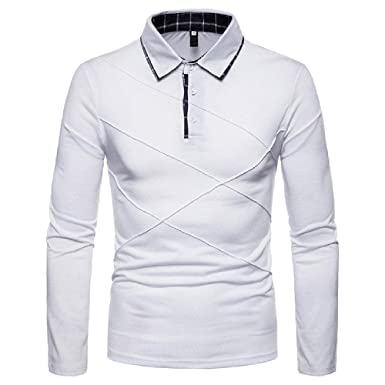 Hombres Plus Size Spring Polo Shirt Manga Larga Casual Hombre ...