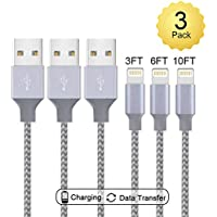 Lightning Cable,Live2Pedal Compatible iPhone Cable 3-Pack...