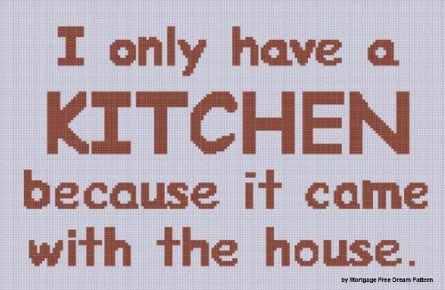 Kitchen Cross Stitch Pattern (Kitchen Pattern Cross Stitch)