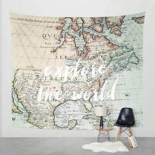Walden theory antique world map print tapestry bedroom dorm wall walden theory antique world map print tapestry bedroom dorm wall hanging lightweight fabric wanderlust art decor gumiabroncs Images