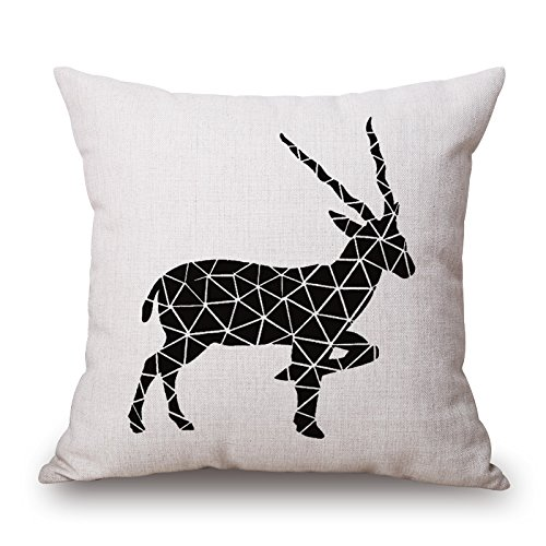 Artistdecor Deer Christmas Pillowcase 18 X 18 Inches / 45 By 45 Cm Gift Or Decor For Shop Study Room Monther Couples Festival Shop - Two Sides