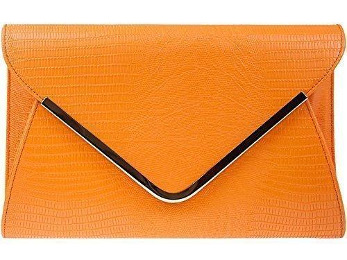de pour Animal soirée Orange main sac Pochette Diva's Imprimé orange Haute à mariage pour femme Pochette xSngdqw0Y0