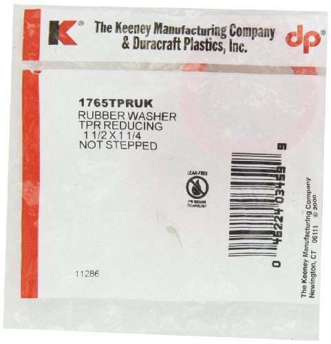 Keeney 1765TPRUK 1-1/2-Inch by 1-1/4-Inch Rubber Slip Joint Reducing Washer, Red