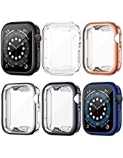 LORDSON 6-Pack Screen Protector compatible with Apple Watch Series 6/5 / 4 / SE 44mm, All Around Protection TPU Screen Protector Cover Case compatible with 44mm Apple Watch SE/Series / 6/5 / 4