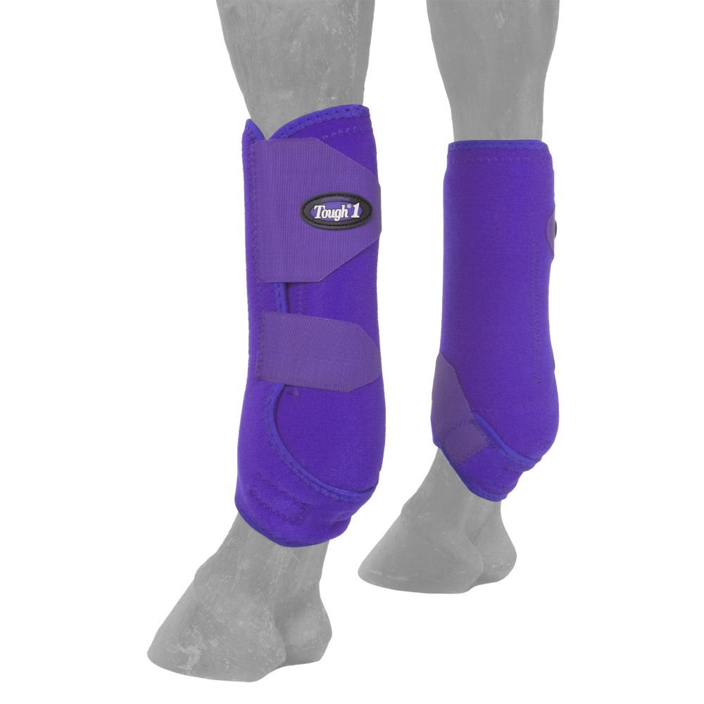 Tough-1 Vented Sport Boots Front Medium Purple