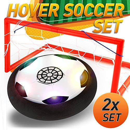 (The Amazing Air Soccer Hover Ball - World Cup Limited Edition , Most Popular Toys for 4-5 Year Old Boys & Girls , Best Summer Indoor Kids Sports Gifts Set - 1 x Floating Disc with 2 x Net )