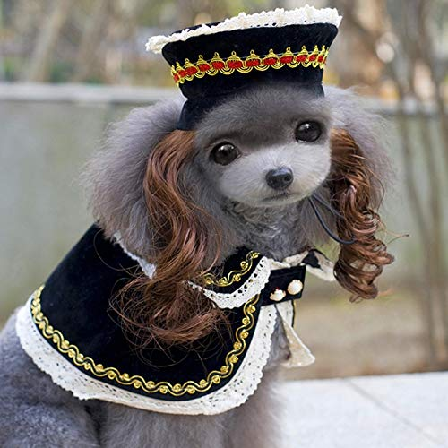 Amazon.com : DHmart Pet Dog Clothes Dogs Halloween Costume Dog Clothes Dress up Pet Hat Dog Wig Products Chihuahua York Ropa Para Perros 10 P1 : Pet ...