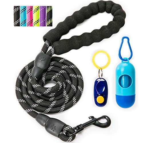yipet 5 ft Dog Leash Comfortable Padded Handle Highly Reflective at Night Durable Heavy Duty for Medium Large Dogs