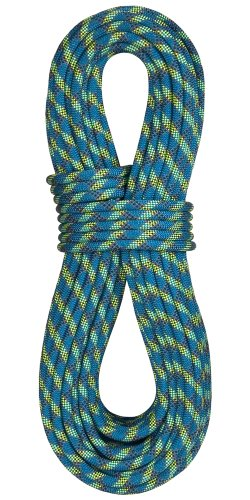 BlueWater Ropes 10.5mm Accelerator Double Dry Dynamic Single Rope (Blue, 60M)