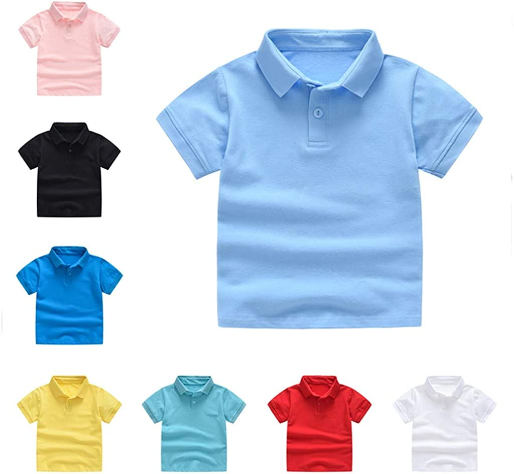 Sameno Fashion Toddler Kids Baby Girls Boys Short Classic Solid T-Shirt Tee Tops Clothes