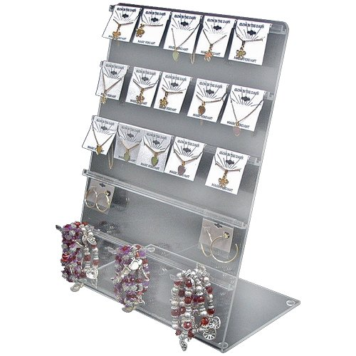 Azar 900015 J-Bar Counter Display, 11-Inch W by 17-Inch H