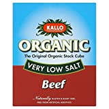 Kallo Organic Very Low Salt Beef Stock Cubes (51g) - Pack of 6