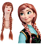 SARLA Long Brown Braid Pigtail Wig 30 Inch for Women Cosplay Party Halloween Costume Heat Friendl...