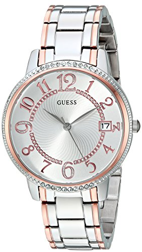 GUESS Women's Quartz Stainless Steel Casual Watch, Color:Two Tone (Model: U0929L3)