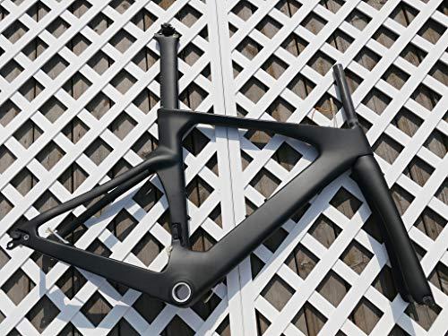 Full Carbon Matt Time Trial Triathlon Bike Frameset : 54CM TT Bicycle Frame, Fork, seatpost, seat nut