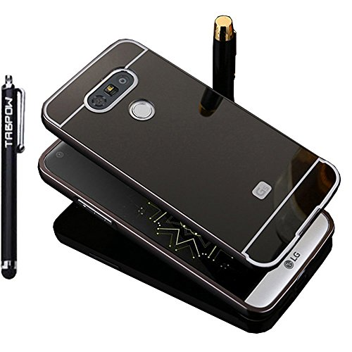 LG G5 Case, TabPow Mirror Case Series - Electroplate Bumper Bling Luxury Slim Hard Back Case Cover For LG G5, Black
