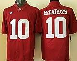 MC Jersey Men's Alabama Crimson Tide A.J. McCarron #10 College Football Jersey Red