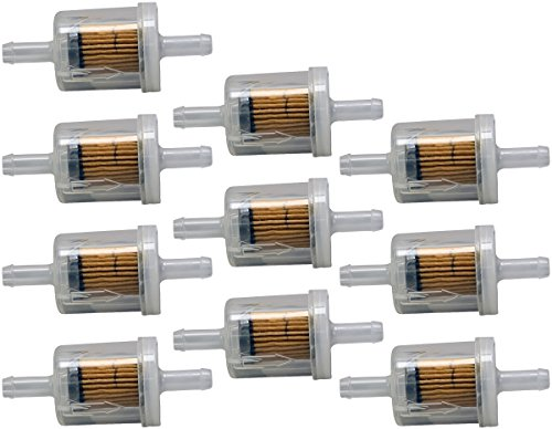 Briggs & Stratton 10 Pack 691035 Fuel Filter 40 Micron For Selected Engines with Fuel Pump