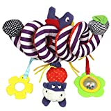 Gbell Child Kids Toddler Baby Infant Spiral Cot Activity Hanging Musical Play Decoration Toy for Car Seat/Pram/Stroller (Colorful)
