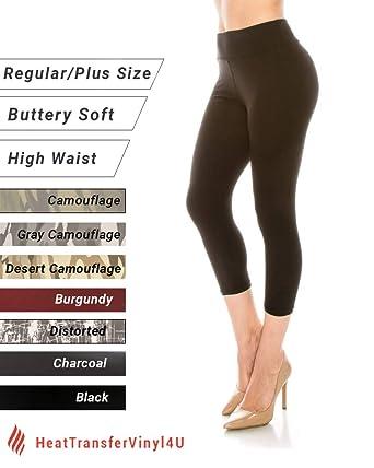 78f3d573f5a77 The Softest Capri Leggings for Women High Waist Solid and Printed Reg/Plus  Yoga Gym