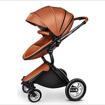 QZX Cochecito 2 en 1 Cochecito de bebé Sistema de Viaje Plegado Compacto con una Mano
