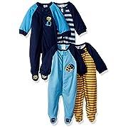 Gerber Baby Boys' 4 Pack Sleep 'n Play, Sport/Safari, 6-9 Months