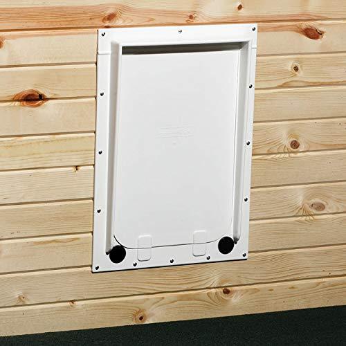 Magnador Kennel Dog Door, Large Flap Flap, Standard Magnet, White