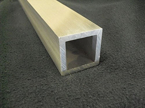 2'' Aluminum Square Tube 1/4'' Wall x 96'' Long 6061-T6 Mill Finish by TNT Metals