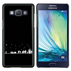 Stuss Case / Funda Carcasa protectora - Night City Silhouette Moon Stars - Samsung Galaxy A5 ( A5000 ) 2014 Version