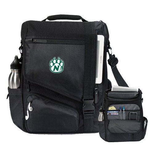 Northwest Missouri State Momentum Black Computer Messenger Bag 'Official Logo' by CollegeFanGear