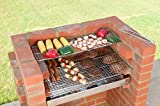 Built In Grill 410 sq in 100% Stainless Steel Brick BBQ Grill Kit with Warming Rack & Bag