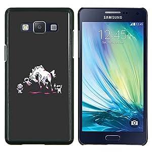 LECELL--Funda protectora / Cubierta / Piel For Samsung Galaxy A5 A5000 -- Monstruos de la historieta Arte Sangre --