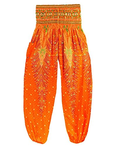 Pattern Casualei Hippie Aladin Harem Vintagechic Stampato Pantaloni Pantaloni Pantaloni Pantaloni Di Vita Arancia Lanterna Estivi Donna Alessioy Elegante Sciolto Elastica Pluderhose qw7tvv