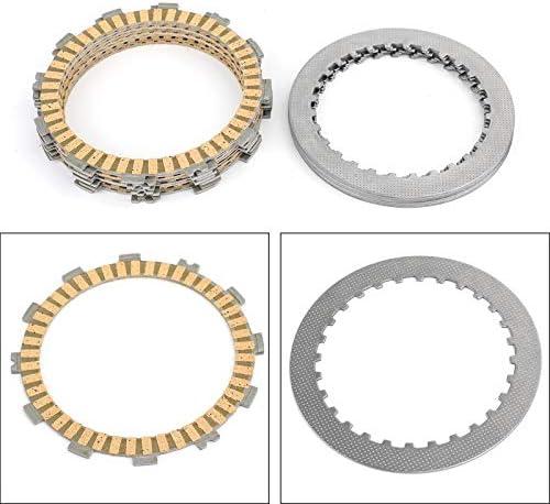 Artudatech Motorrad-Kupplungsplatten-Set, Bremsscheiben aus Stahl und Reibplatten für H-O-N-D-A CRF450R 2002–2008 CRF450X 2005–2017