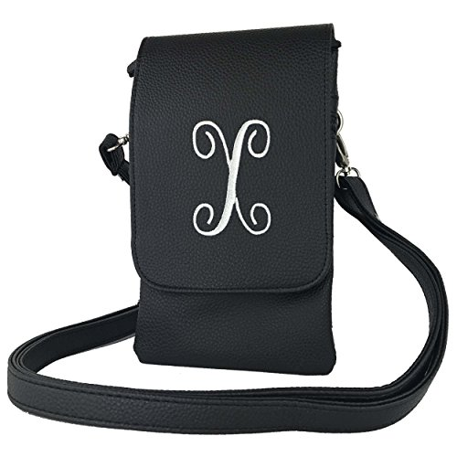 Cross Phones Black letter X Fits Cross body handbags Hudson Cell all Bag Charm14 body Womens Phone Eq7OSS