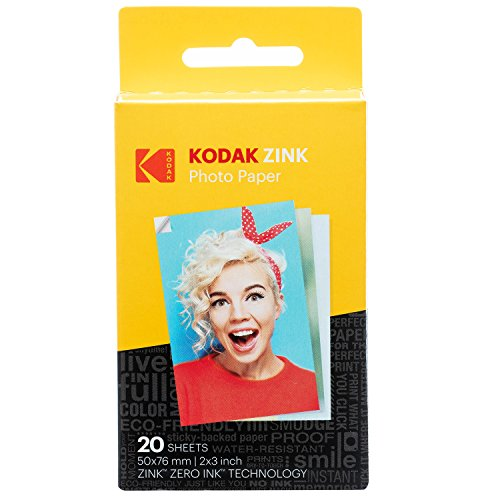 Kodak 2x3' Sticky-Backed ZINK Photo Paper (50 Sheets) - Compatible With Kodak Printomatic Instant Camera (NOT with Kodak Mini SHOT, Mini2)