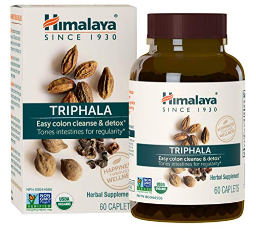 (Himalaya Organic Triphala 60 Caplets for Colon Cleanse 688mg, 2 Month Supply)