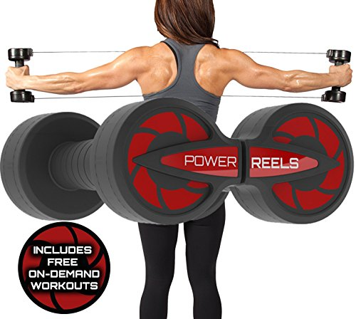POWER REELS Deals, New Fitness Product 1 Most Effective Constant Resistance, Fitness Products. Build leaner Muscles, Train Anywhere & See Faster Results. (RED) 8lbs Resistance