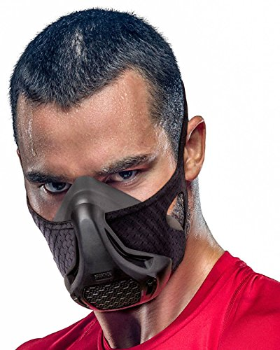 SPARTHOS Workout Mask - High Altitude Elevation Simulation - for Running, Cycling, Cardio, Fitness, Endurance Training - Hypoxic Resistance Mask [16 Breathing Levels] [S] (Mask Breather)