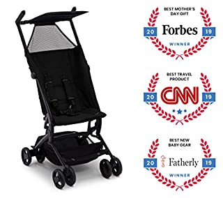 Small but mighty, the Clutch Stroller by Delta Children makes it so easy to get your child out and about. Extremely lightweight and designed to compactly fold down to fit into the included travel bag, this travel stroller is perfect to take on day tr...