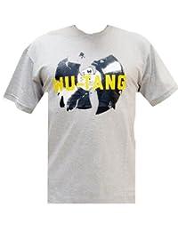 Wu-Wear Vinyl Tee T Shirt T-Shirt Wu-Tang Clan Wu Wear Grey Melange Mens