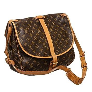 1890fc4f739 Louis Vuitton Pre-Owned Monogram Canvas Leather Saumur 30 cm Messenger Bag   Amazon.co.uk  Luggage