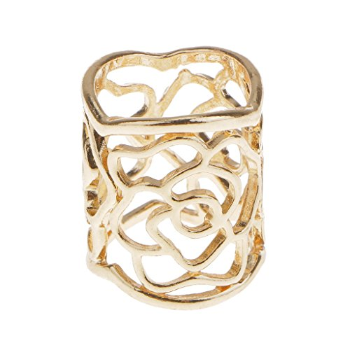 Generic Vintage Hollow Rose Scarf Buckle Scarf Ring Clip Holder Silk Scarf Jewelry - Gold