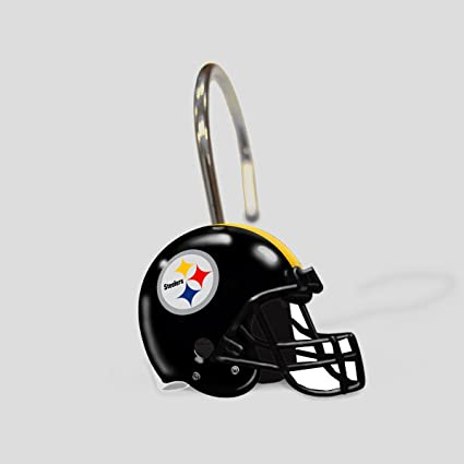 4ca67e696 Image Unavailable. Image not available for. Color  NFL Pittsburgh Steelers  Shower Curtain Rings