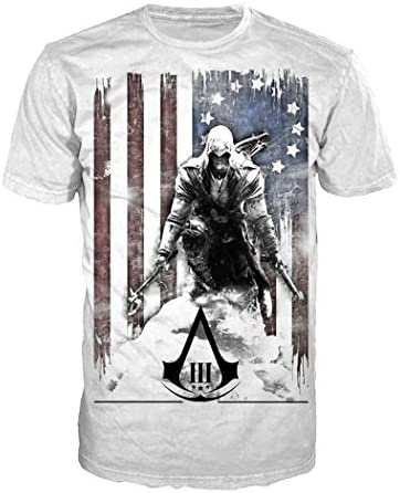 Assassin´s Creed 3 - Camiseta Bandera Connor, Talla M: Amazon.es ...