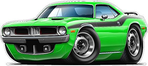 - 1972-1974 Cuda WALL DECAL Vintage 3D Car Movable Stickers Vinyl Wall Stickers for Kids Room