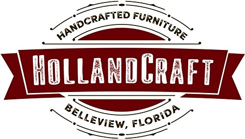 HollandCraft - The Perfect Wood Foot Stool - Handcrafted - Made in USA - Hidden Wood Dowels (No Screws, Staples or Nails)
