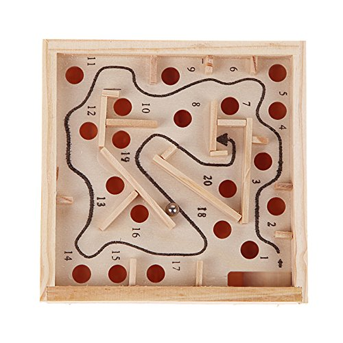 Clue Board Game Costumes (Maze Toys Wooden Labyrinth Board Game Ball Kids Intellectual Development.)