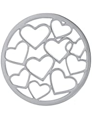 MS Koins Stainless Steel Multi Heart Coin Fits Our Coin Locket System, 30mm Diameter