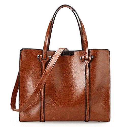 NVBAO Sacchetto di spalla della borsa della signora Sacchetto della spazzola dell'olio di modo di sbucciatura Turismo Grande capacità Quattro colori, wine red brown